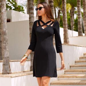 Boston Proper Black Dress Beyond Travel XL 18 LBD